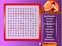 Cities In America Word Search game