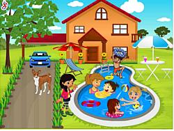 玩免费游戏 Kids Swimming Pool Decor