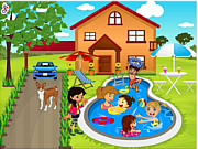 Play Kids swimming pool decor Game