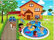 Kids swimming pool decor game