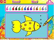 Play Aquarium fish coloring Game