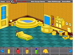 Golden Bathroom Escape game
