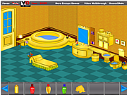Play Golden bathroom escape Game