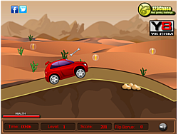 Desert drive game game
