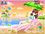 Play Happy bathing beach Game
