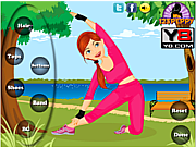 Play Fitness girl dress up game Game