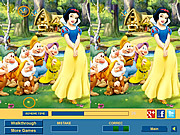 Play Cute snow white 2 difference Game