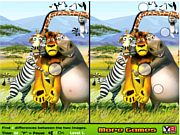 Play Madagascar differences Game