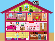 Play Barbie doll house decor Game