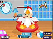 Play Cute baby boy bath Game