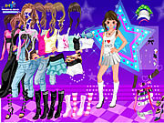 Play Dancing star dress up Game