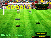 Play Football kick and score Game