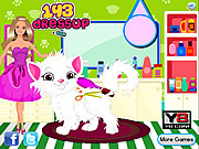 Play Barbie cat hair salon care Game