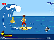 Play Surfing danger Game