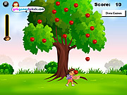 Play Dora apples catching Game