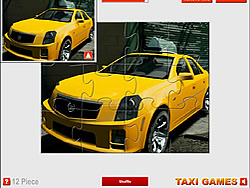 Cadillac Taxi Jigsaw game