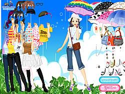 เล่นเกมฟรี Spring Rain Dress up