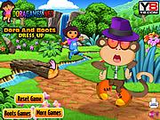 Chơi trò chơi miễn phí Dora and Boots Dress Up