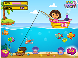 Dora Fishing 1 game