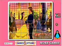 Princess Belle Spin Puzzle game