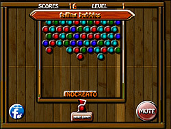 Falling Bubbles game