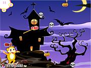 Halloween Monkey Throw game