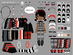 Spielen Sie das Gratis-Spiel  Little Emo Girl Dress Up
