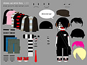 Jugar Little emo boy dress up Juego