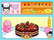 Play Fruit cake decoration Game