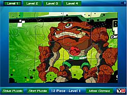 Ben 10 rock Jigsaw game