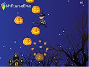 Mr Bean Jump On Pumpkin game