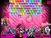 Play Monster high bubbles Game