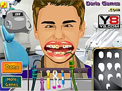 Justin Bieber at Dentist game