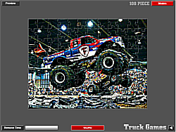 Monster Truck Jigsaw game