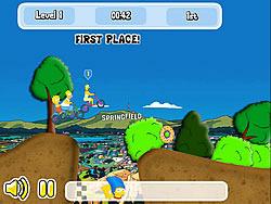 Simpson's Bike Rally game