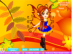 Autumn Fairy Dressup game