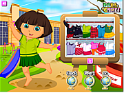 Dora Schoolday Dressup game