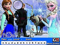 Frozen Hidden Letters game