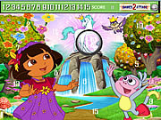 Cute Dora Hidden Numbers game