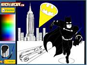 Play Batman Cartoon Coloring game