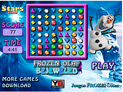 Frozen Olaf Bejeweled game