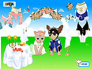 Play Pet wedding dress up Game