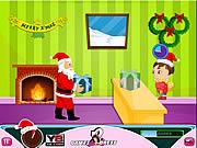 Funny Santa Gift Serves game