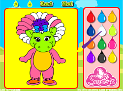 Big Dino Coloring game