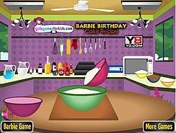 Barbie Birthday Cake Recipe game