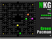 Green Pacman game