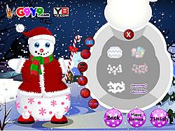 Snow Man Xmas Dress up game