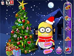 Baby Minion tree decoration game