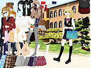 School Uniform Dressup game