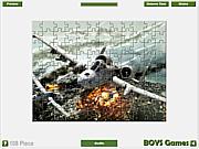 Plane Jigsaw Game game
